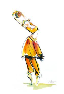 La Bayadère, danseuse hindoue sacrée