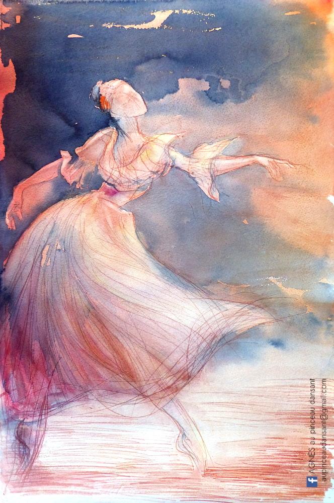 Danseuse orange