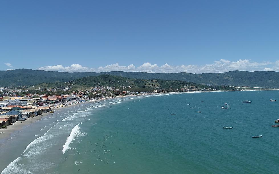 Coastline of Garopaba, Santa Catarina, Brazil