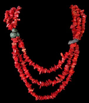 Red Coral W/ Turquoise Beads