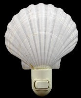 White Scallop Night Light