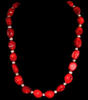 Red Coral W/Pearl Accents