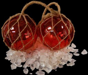 Red Glass Floats (EA)
