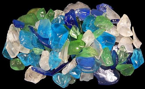 "Light Mixed Color Sea Glass (1/4"" - 1 1/2"")"