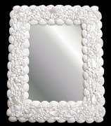 Large White Cockle Mirror
