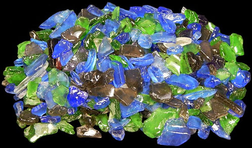 """Dark Mixed Color Sea Glass (1/4"""" - 1 1/2"""")"""
