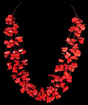 Red Coral Chips Five Rows