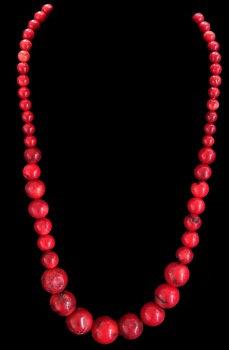 Dark Red Graduated Beads