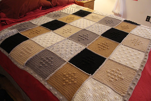 """Sea of Bobbles"" - Afghan Blanket"