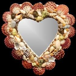 Pectin Heart Mirror