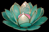 Turquoise Lotus Candle