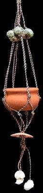 Twine Macrame w/Clay Pot