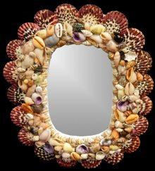 Pectin Oval Mirror
