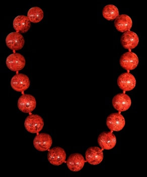 Red Coral Huge Beads