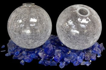 Clear Crackle Glass Floats (EA)