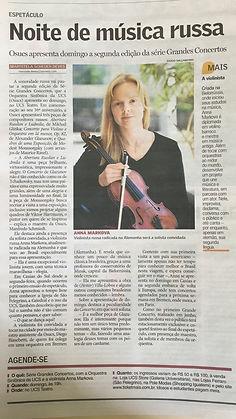 nite de musica russa Anna Markova violinista russa radicada na Alemanha