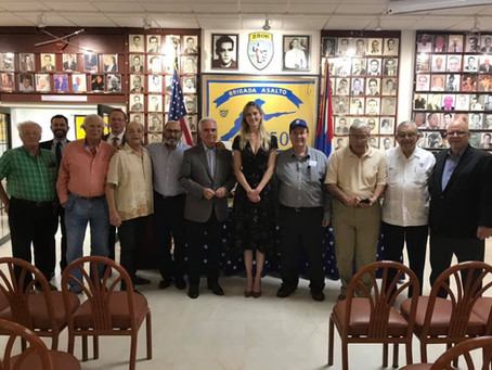 Carrie L. Filipetti's official visit to to the Bay of Pigs Brigade 2506 Museum
