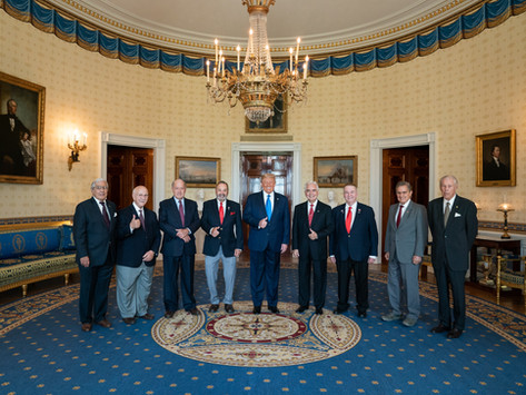 2020 Presidencial Ceremony at the White House  Honoring the Brigade 2506.