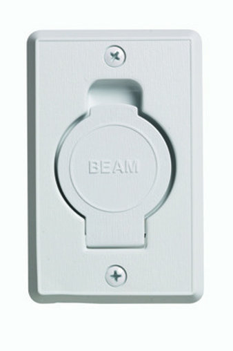 BEAM central Vacuum Inlet/ Outlet Valve (White)