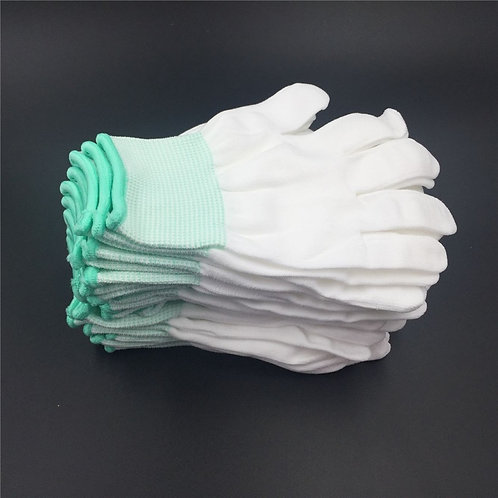 5Pairs Garden Gloves White Gloves Cotton