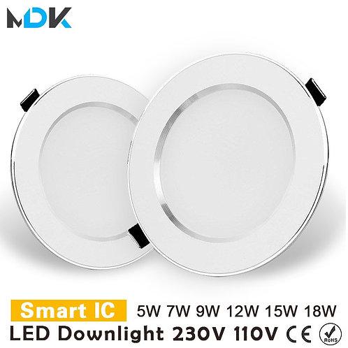 LED Downlight 3W 5W 7W 9W 12W 15W 18W Round Recessed