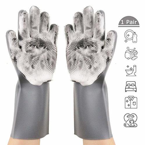 Silicone Dishwashing Cleaning Glove Magic Scrubber