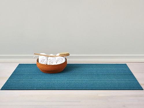 Skinny Stripe Shag Mat (Turquoise)