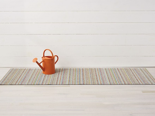 Skinny Stripe Shag Mat (Soft Multi)