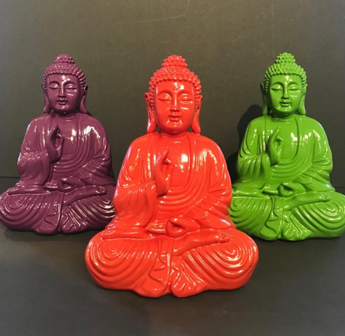 Colorful Buddhas