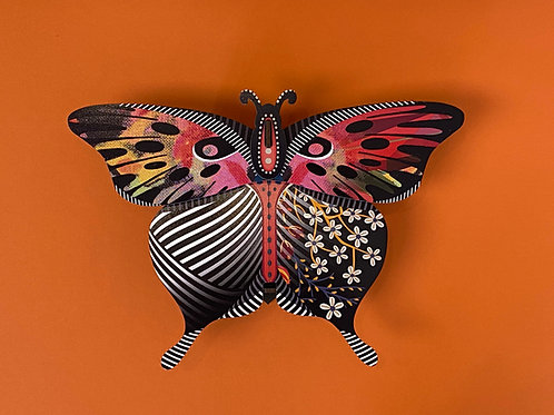 Red Butterfly Wall Container