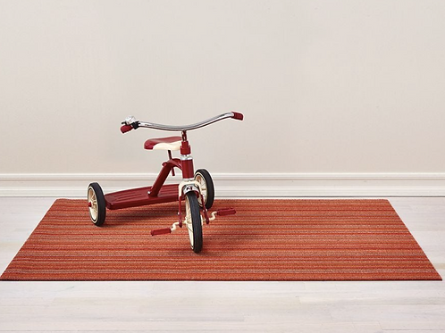 Skinny Stripe Shag Mat (Orange)
