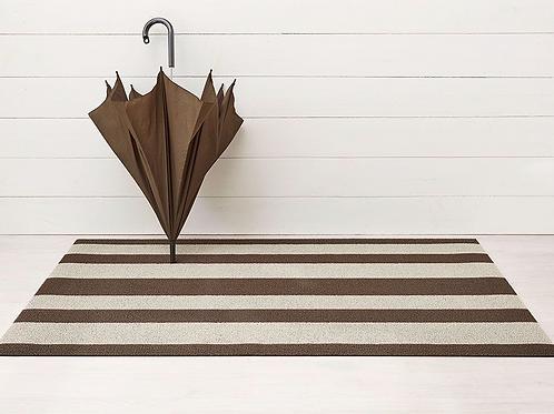 Bold Stripe Shag Mat (Pebble)