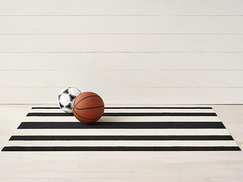 Bold Stripe Shag Mat (Black/White)