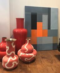 Scarlett Vases & Geometic Abstraction