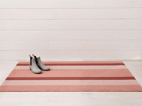 Bold Stripe Shag Mat (Peach)