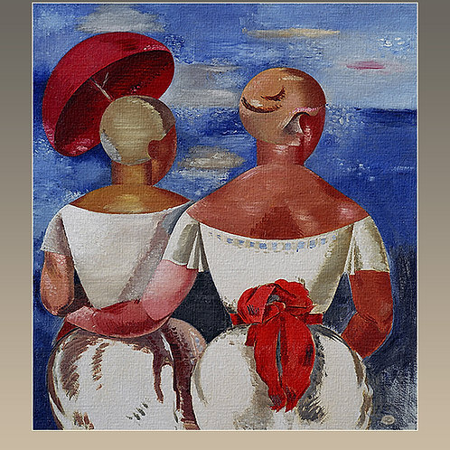 """"""" Ladies at the Seasid"""", 1920  Jekebs Kasaks"""