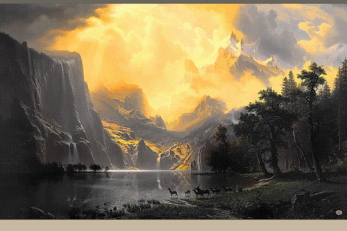 """Among the Sierra Nevada Mountains"",1868 Albert Bierstad"