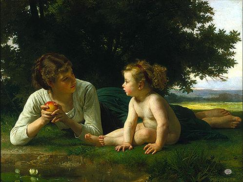 """Temptation"",1880  Willim Adolphe Bouguereau"""