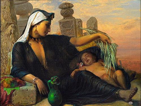 """""""Egyptian Fellah Womann"""" 1878 Elizabethe Jerichau-Baumann"""