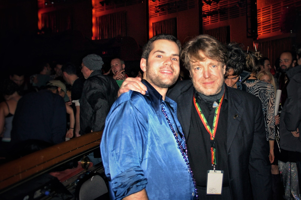 A moment with a hero of mine, poet and activist John Perry Barlow, who left his body in his sleep last night.