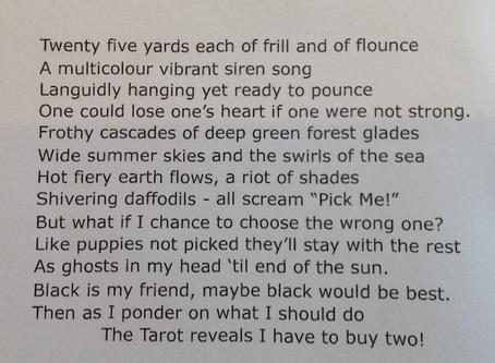 Bernie's poem - Choosing a Tribal Skirt