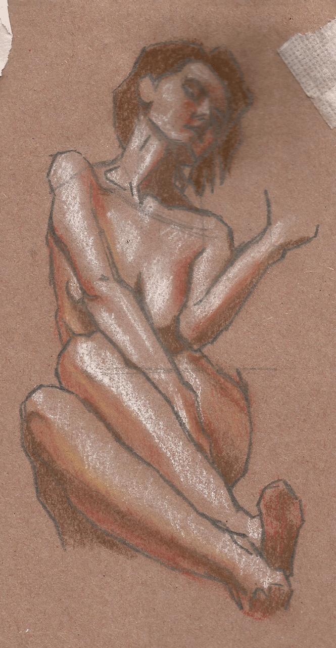 Soft Pastel Self Portrait