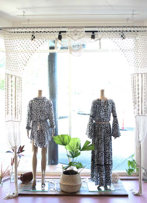 window macrame Dreamers & Drifters retail boutique retail fit interior design byron bay