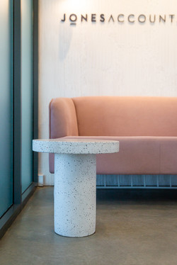 Stone Table  | Jones Accountants Lennox Head | Office | Interior Design | whitewood agency