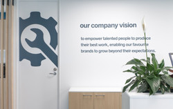 Engagement group offices workplace fit out auckland company vision