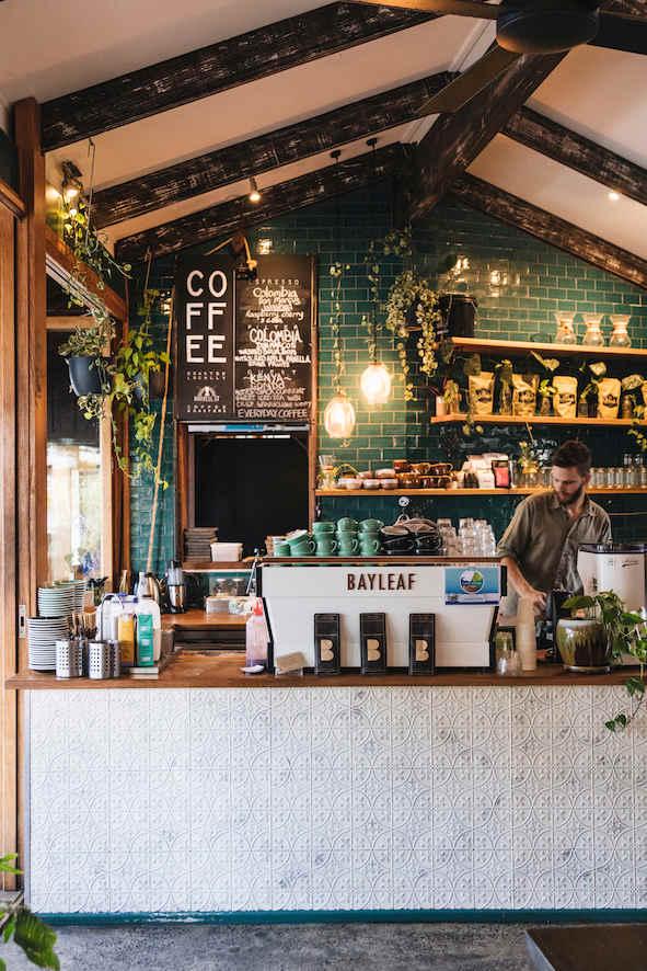 Bay Leaf Cafe | Byron Bay | whitewood agency | Cafe Interior Design