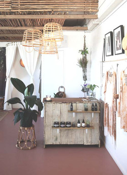 vintage counter Dreamers & Drifters retail boutique retail fit interior design byron bay