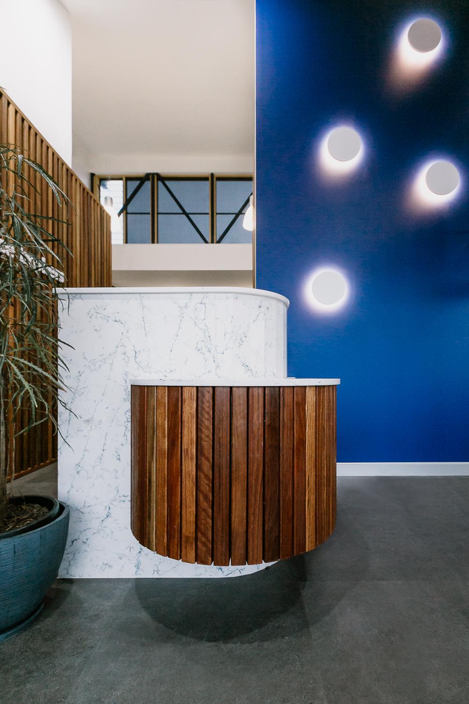 Ballina Insurance | office reception | whitewood agency | Interior Design