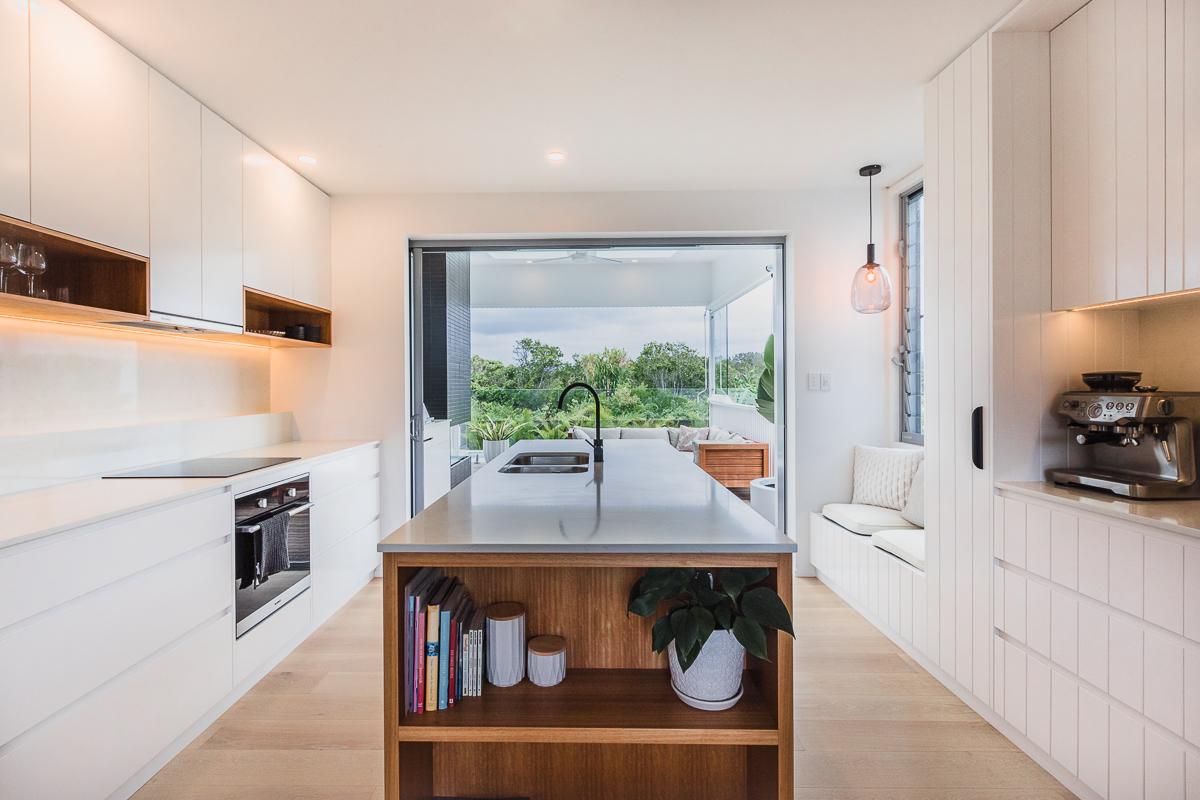 Kitchen living area | Belongil House Byron Bay | Interior Design
