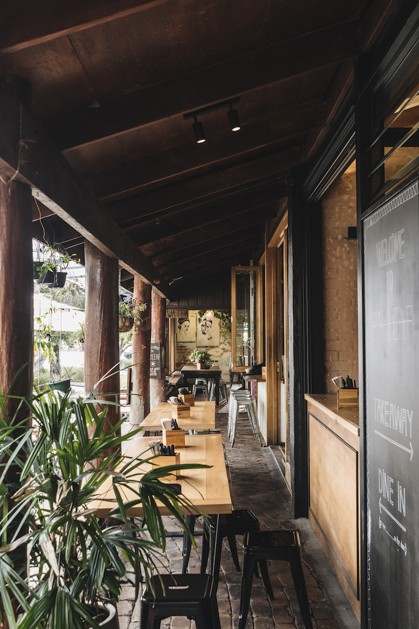 Bay leaf cafe hospitality fit out byron bay outdoor seating